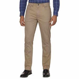 DKNY Mens Bedford Slim Straight Twill Pants Khaki